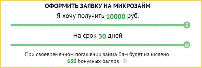 Калькулятор займов в МФО Честное Слово