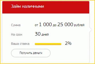 Калькулятор займов Стандартный в МФО Ваши Деньги