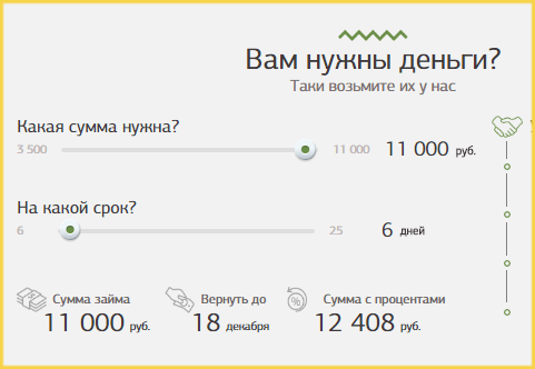 Калькулятор займов МФО Займон