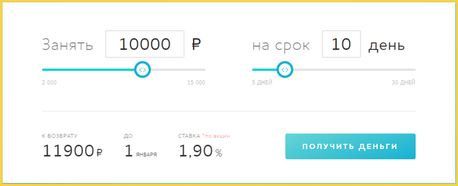 Калькулятор займов в МФО Смарт Кредит