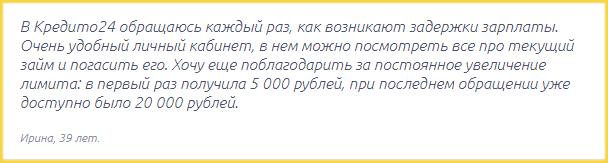 Отзыв о МФО Кредито24
