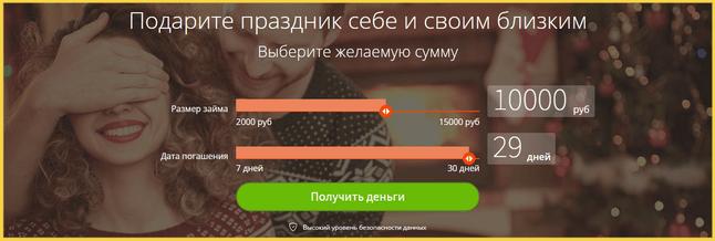 Параметры займа в МФО Кредито24