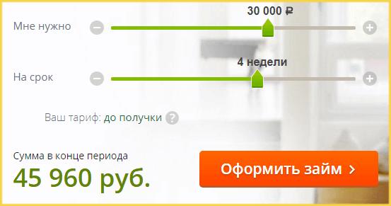 Калькулятор займов в Кредит911