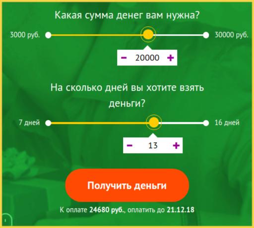 Калькулятор займов ФастМани